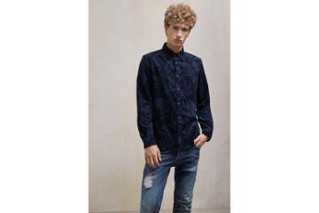 French Connection Overdyed Fumio Floral Corduroy Shirt