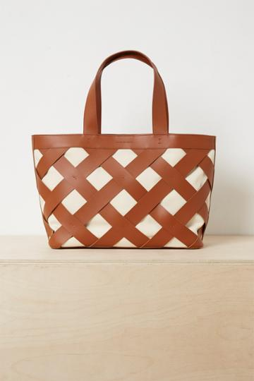 French Connenction Troy Recycled Leather Canvas Bag