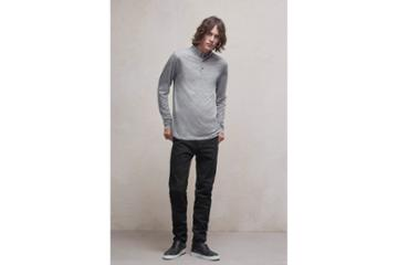 French Connection Wool Jersey Polo Shirt