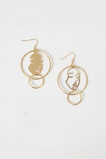 French Connenction Mismatch Faces Earrings