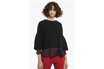 French Connection Ellie Waffle Knit Cropped Jumper