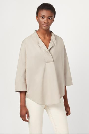 French Connenction Adoni Poplin Pop Over Shirt