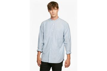 French Connection Jeans Zepher Melange Grandad Collared Shirt