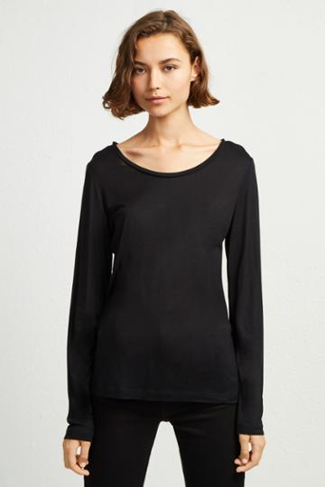French Connenction Viscose Round Neck Top