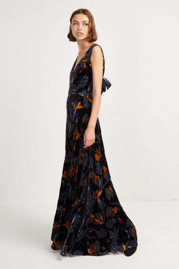French Connenction Aventine Velvet Maxi Dress