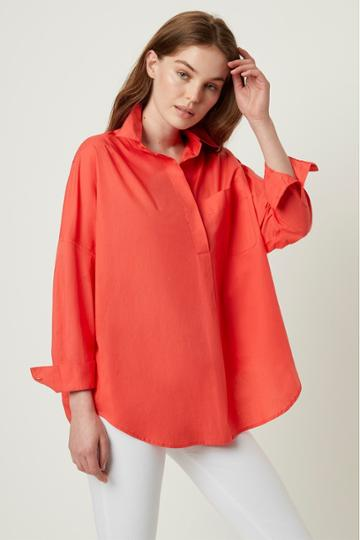 French Connenction Laselle Poplin Pop Ovr Shirt