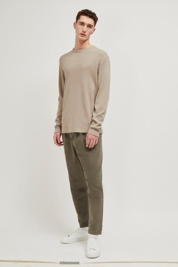 French Connenction Waffle Jersey Relaxed Long Sleeve Top