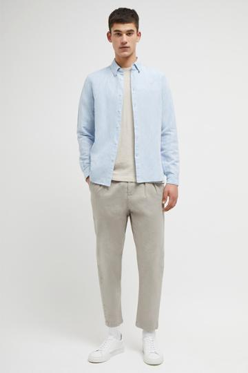 French Connenction Chambray Linen Cotton Shirt