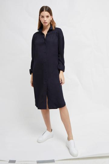 French Connenction Sunny Belted Shirt Dress