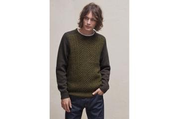 French Connection Mohair Cable Knit Mix Jumper