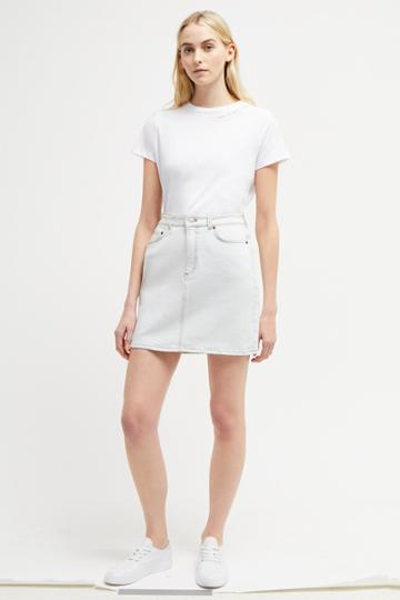 French Connenction Lamier Denim Mini Skirt