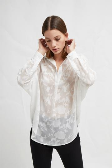 French Connenction Clarita Fil Coupe Pop Over Shirt
