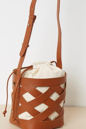 French Connenction Turner Recycled Leather Bucket Bag