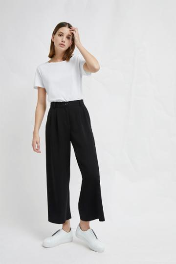 French Connenction Angeline Drape Wide Leg Trousers