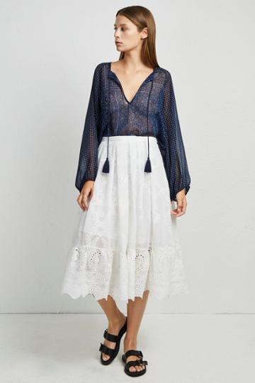 French Connenction Camellia Lace Flared Skirt