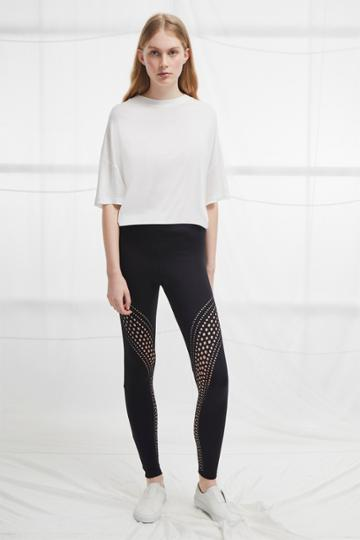 French Connection Laser Cut Jersey Leggings