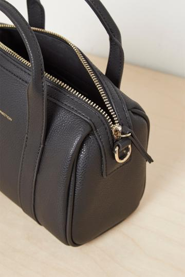 French Connenction Roma Recycled Leather Mini Bowling Bag