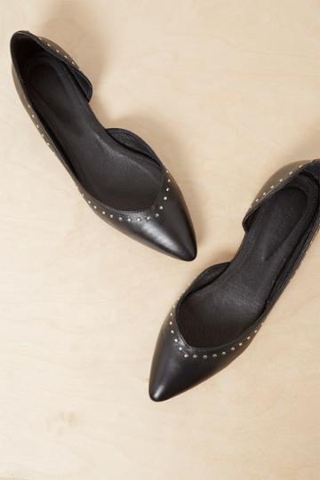 French Connenction Verenna Stud Cut Out Ballet Flats