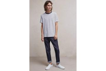 French Connection Fine Stripe Jersey T-shirt