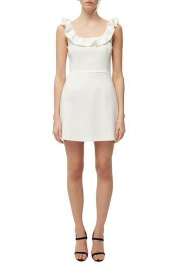 French Connenction Whisper Light Ruffle Neck Dress