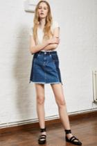 Fcus Laos Denim Mini Aline Skirt