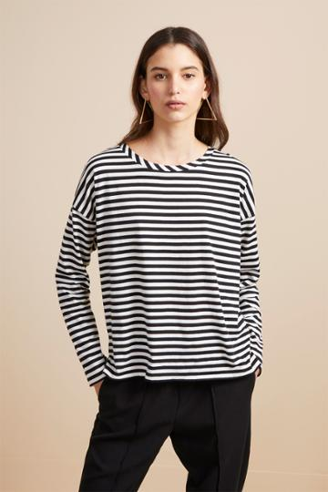 French Connection Tim Tim Light Stripe Top