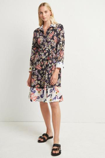 French Connenction Acaena Voile Floral Shirt Dress