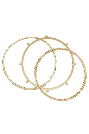 French Connection Dotted Bangle Set