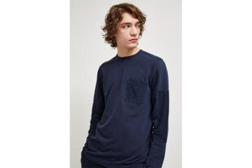 French Connection Patchwork Terry Crew Neck Top