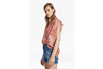 French Connection Malika Sheer Paisley Top