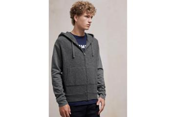 French Connection Boiled Sweat Knit Hybrid Hoody Sweatshirt