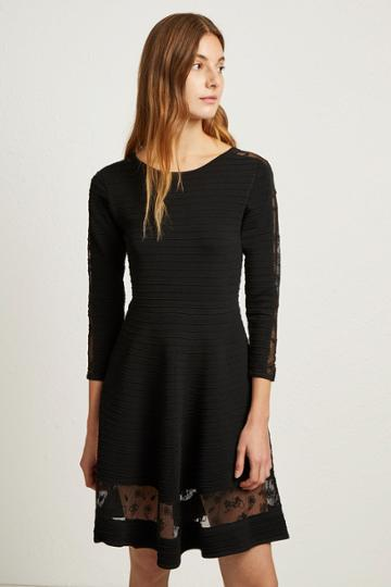 French Connenction Voletta Crepe Knit Dress