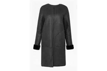 French Connection Zelda Shearling Zip Reversible Coat