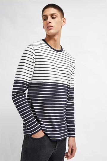 French Connenction Tim Stripe Crew Neck Top