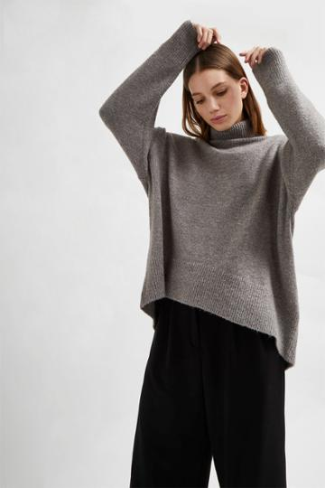 French Connenction Nina Knit High Neck Sweater
