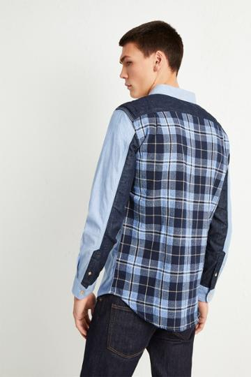 French Connenction City Patchwork Shirt