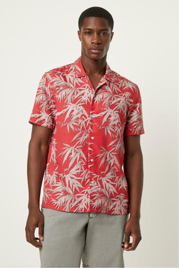 French Connenction Bamboo Print Lyocell Shirt