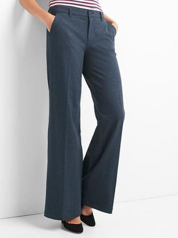 Gap Women Wide Leg Trousers - Navy Heather