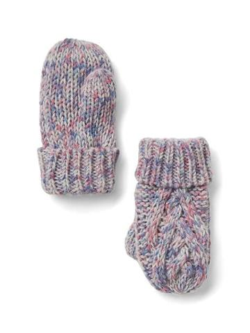Gap Cable Knit Mittens - Pastel Multi