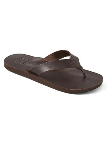 Gap Leather Flip Flops - Dark Brown