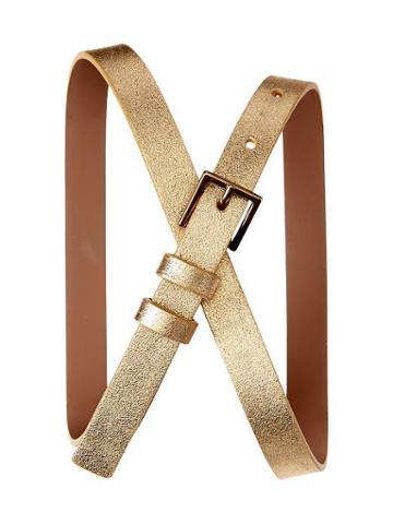 Gap Metallic Belt - Gold