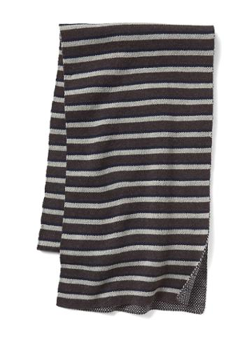 Gap Men Jacquard Stripes Scarf - Gray Stripe