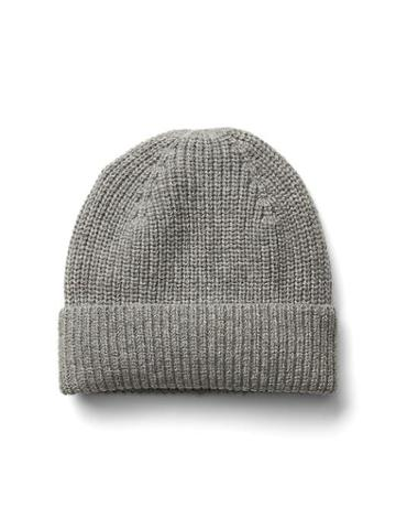 Gap Men Merino Wool Beanie - Medium Grey Heather