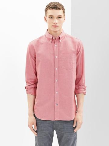 Gap Modern Oxford Shirt - Faded Red