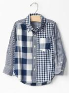 Gap Mix Plaid Shirt - Pangea Blue