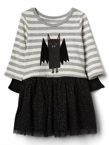Gap Bat Mix Fabric Cape Dress - Gray Heather/white