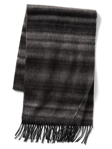 Gap Men Ombre Stripe Wool Scarf - Grey Heather