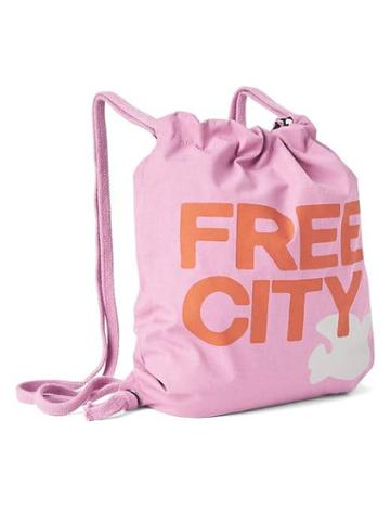 Gap Women Free City X Gap Drawstring Bag - Purple Aster