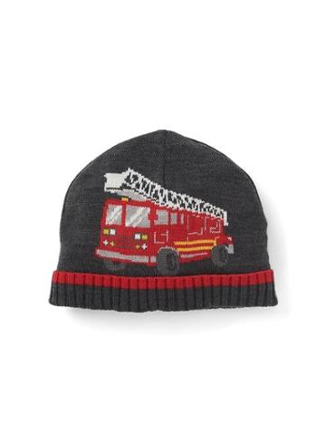 Gap Intarsia Fire Truck Beanie - Dark Charcoal Heather