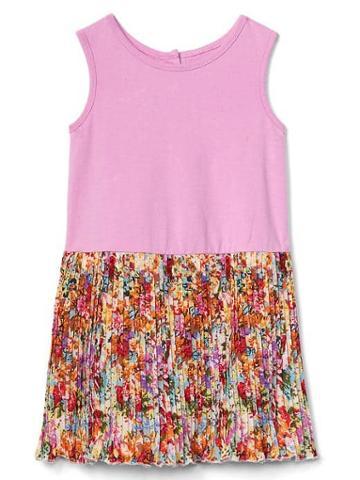 Gap Women Tank Pleat Dress - Multi Floral